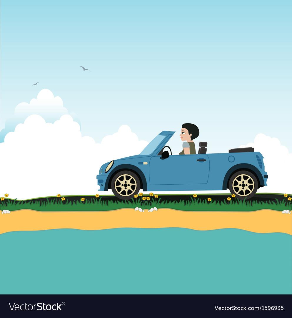Women driving vector | Price: 1 Credit (USD $1)