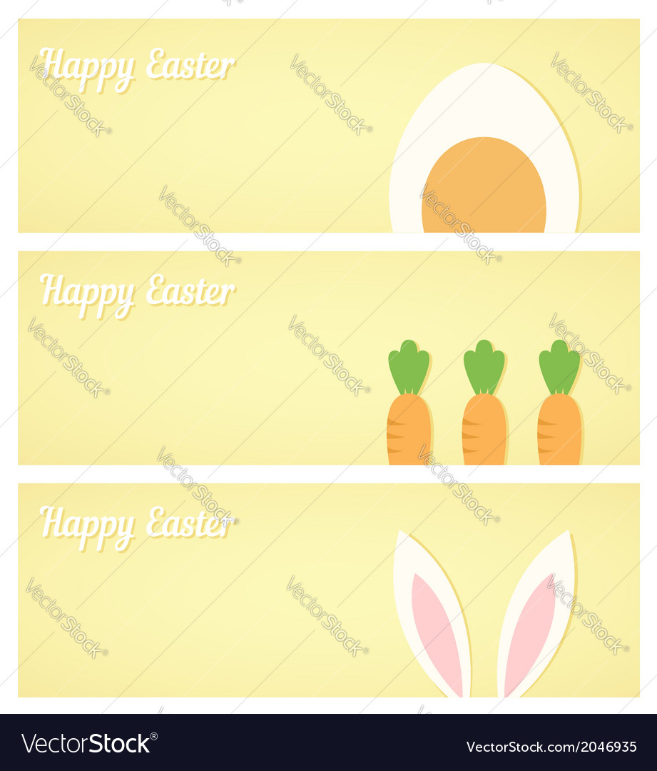 Yellow easter banners vector | Price: 1 Credit (USD $1)