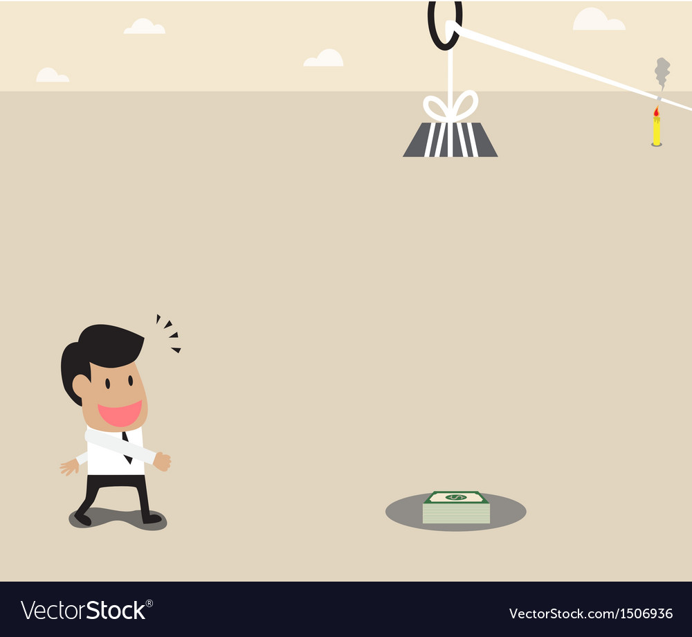 Businessman money and timer trap vector | Price: 1 Credit (USD $1)