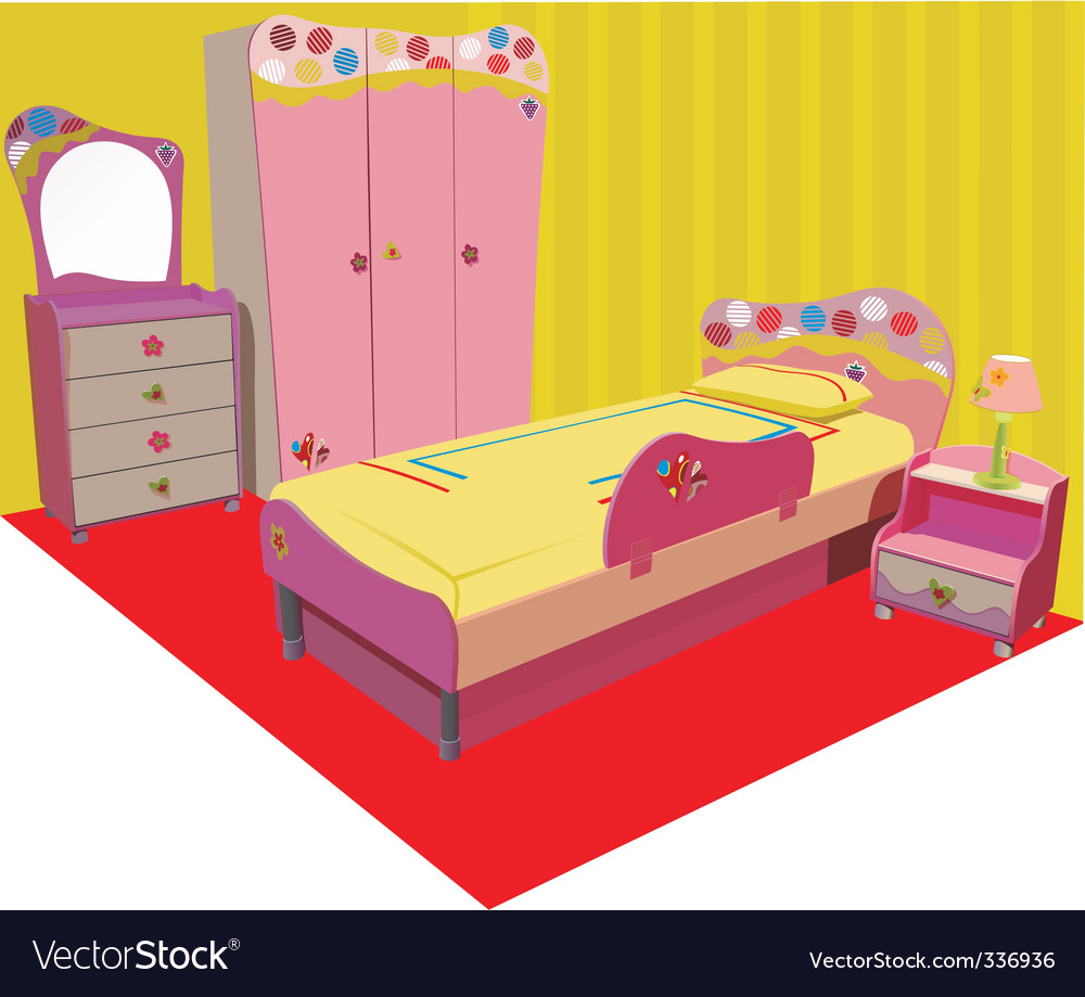 Children room vector | Price: 1 Credit (USD $1)
