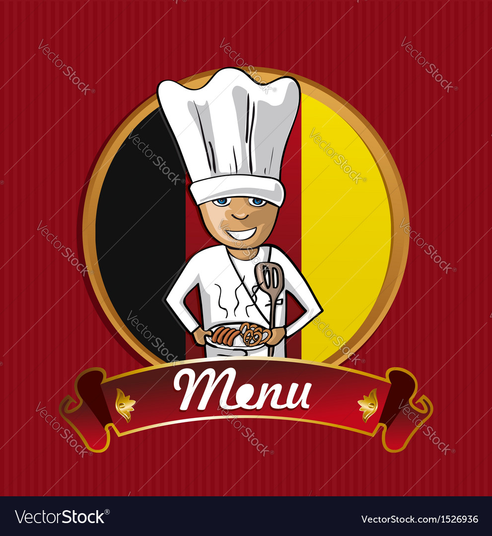 Food from germany menu poster vector | Price: 1 Credit (USD $1)