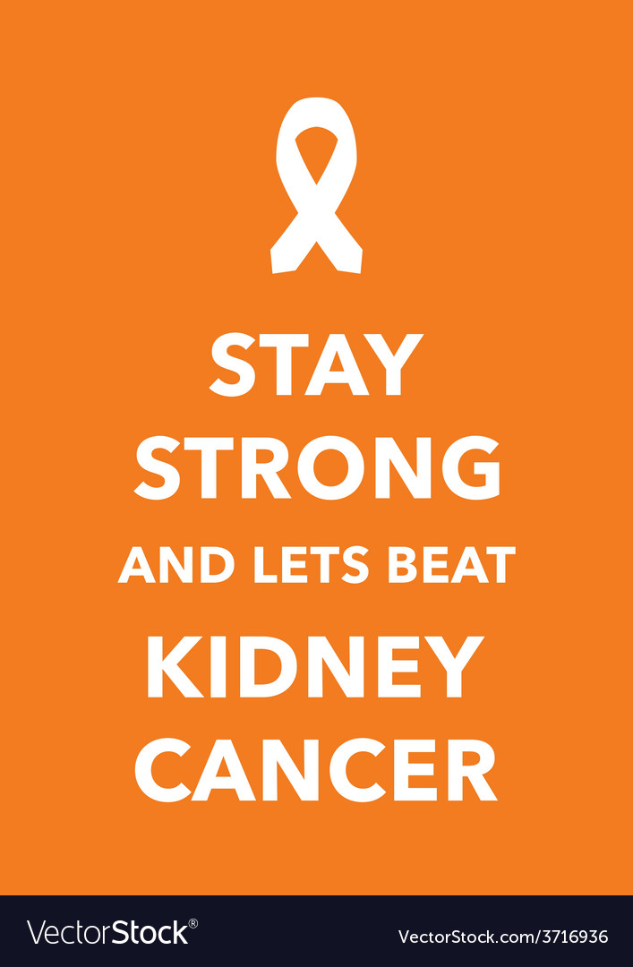 Kidney cancer poster vector | Price: 1 Credit (USD $1)