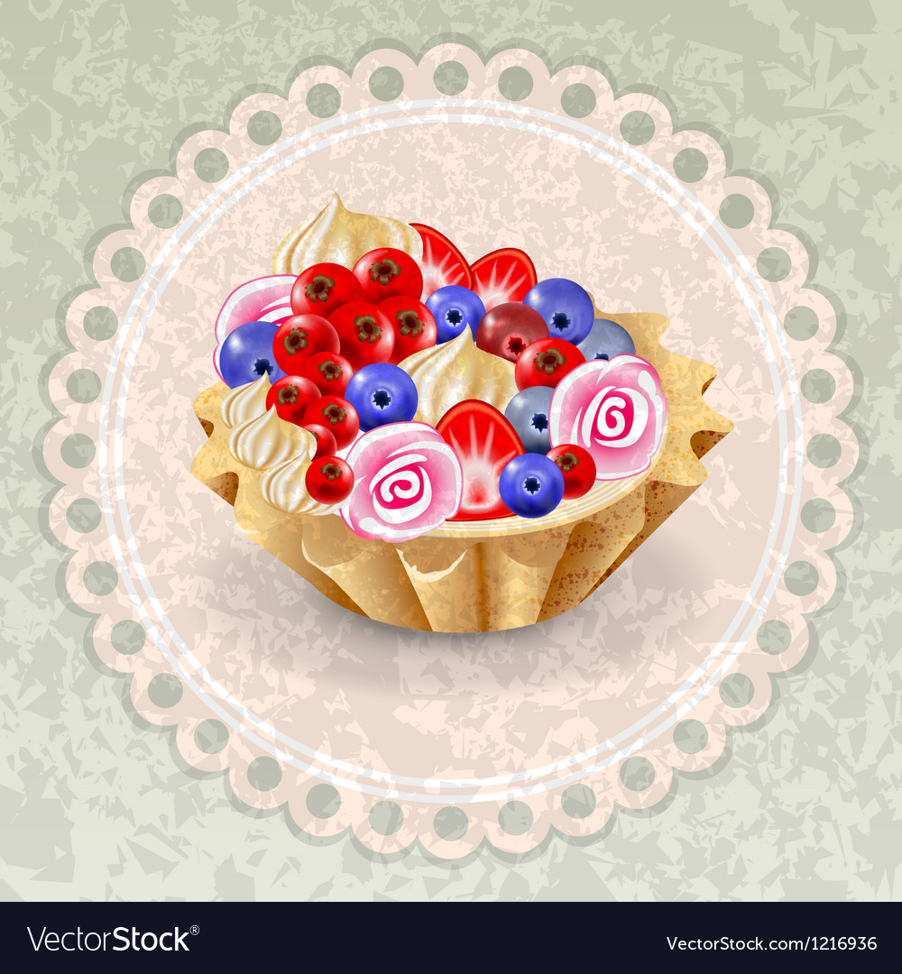 Napkin cake grunge vector | Price: 3 Credit (USD $3)