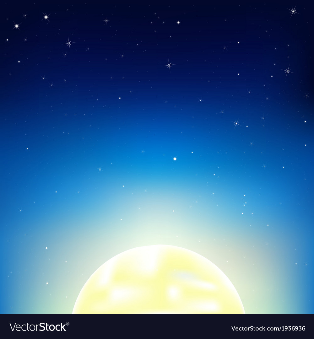 Night sky with moon vector | Price: 1 Credit (USD $1)