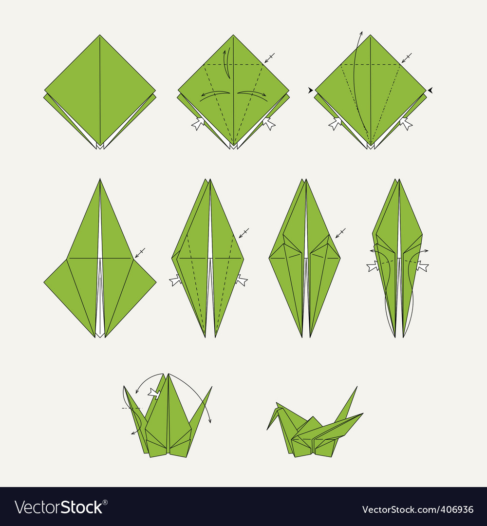 Origami bird vector | Price: 1 Credit (USD $1)