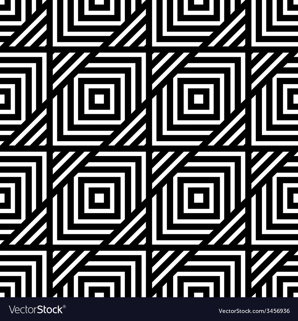 Seamless black and white geometric pattern simple vector | Price: 1 Credit (USD $1)