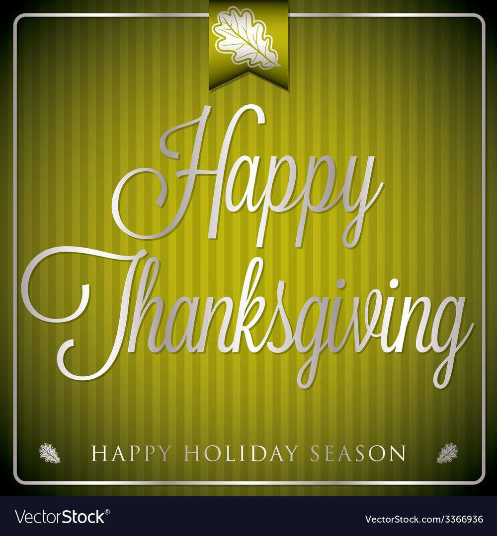 Typographic elegant thanksgiving card in format vector | Price: 1 Credit (USD $1)