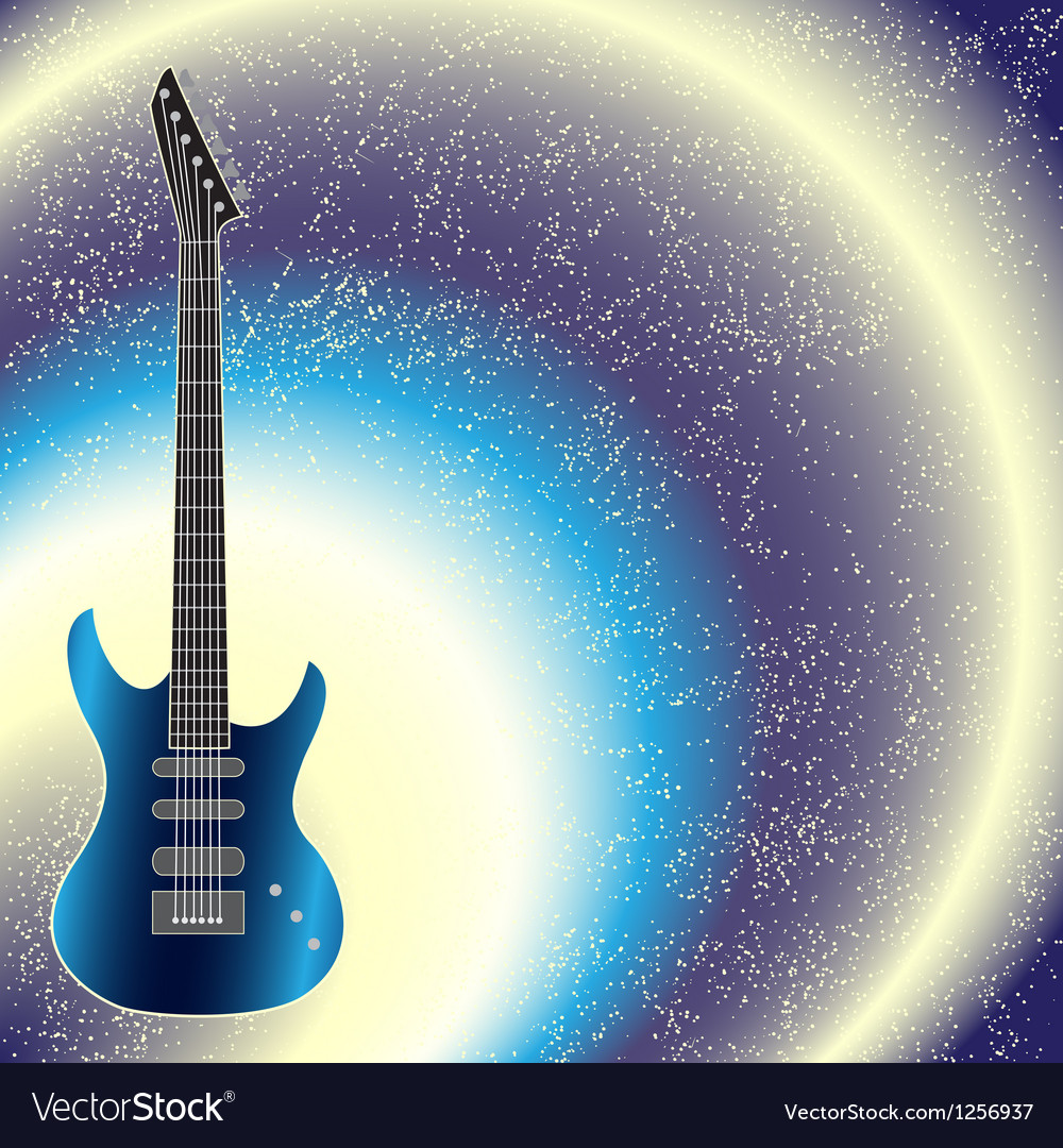 Background with guitar vector | Price: 1 Credit (USD $1)