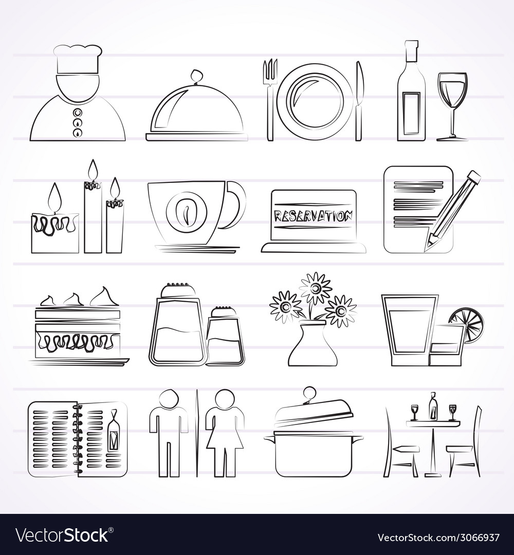 Cafe and bar icons vector | Price: 1 Credit (USD $1)