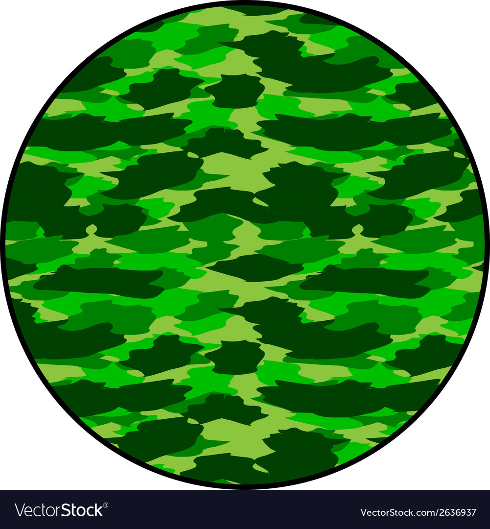 Camouflage round button vector | Price: 1 Credit (USD $1)