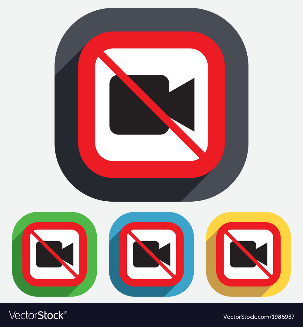 Do not record video camera sign icon vector | Price: 1 Credit (USD $1)