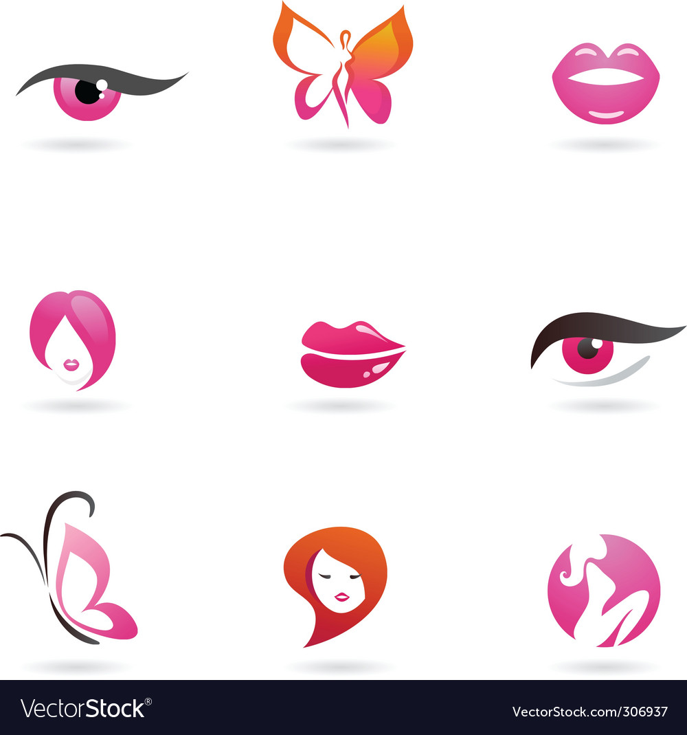 Fashion and beauty icons vector | Price: 1 Credit (USD $1)