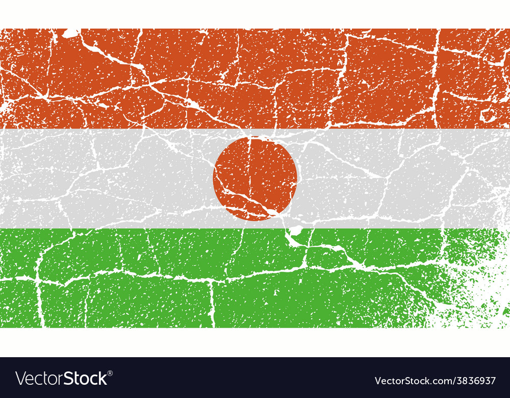 Flag of niger with old texture vector   Price: 1 Credit (USD $1)