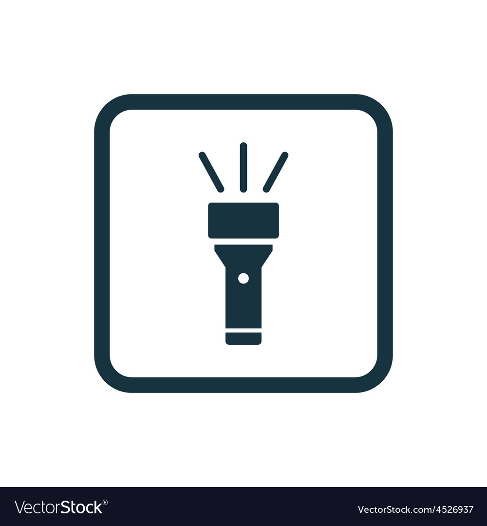 Flashlight icon rounded squares button vector | Price: 1 Credit (USD $1)