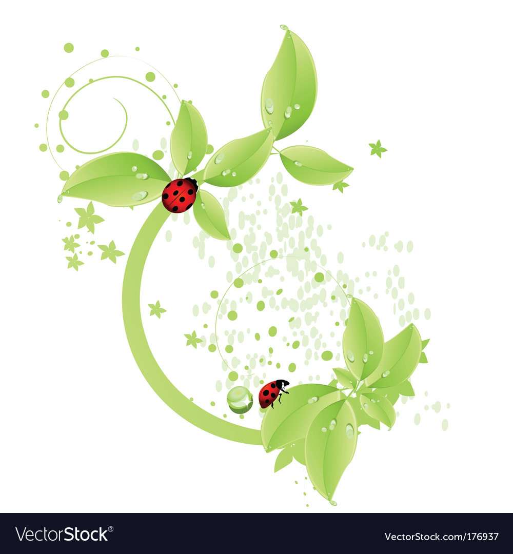 Green leaf design vector | Price: 1 Credit (USD $1)