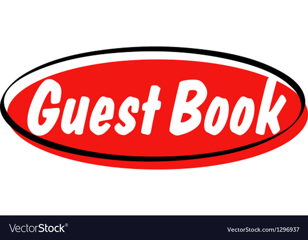 Guest book button vector | Price: 1 Credit (USD $1)
