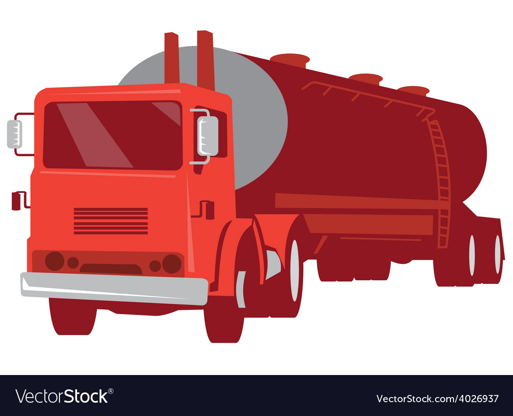 Tanker cement truck retro vector | Price: 1 Credit (USD $1)