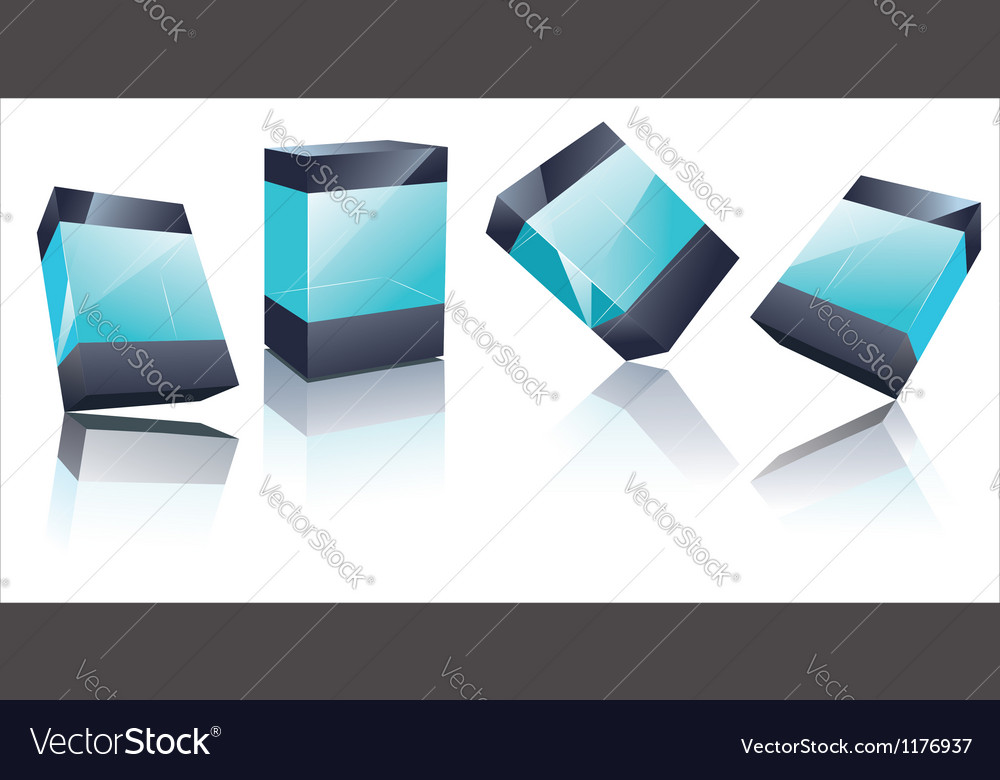 Transparent glass boxes vector | Price: 1 Credit (USD $1)