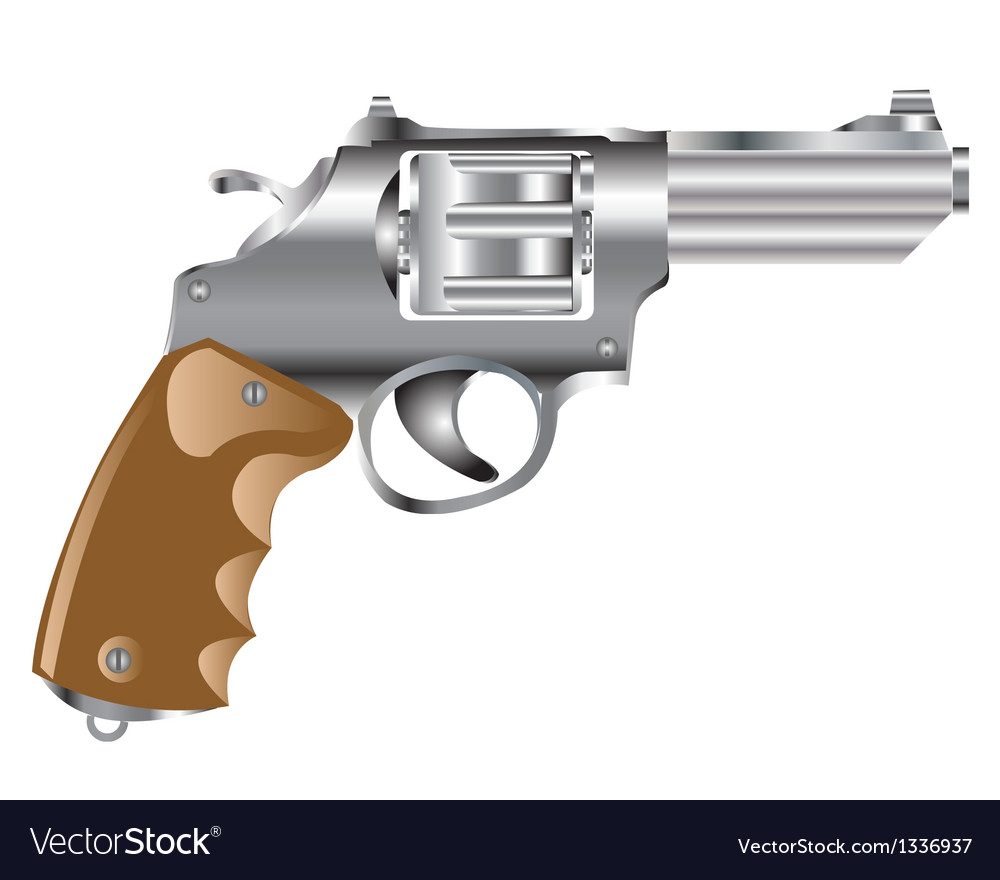 Weapon revolver vector | Price: 1 Credit (USD $1)