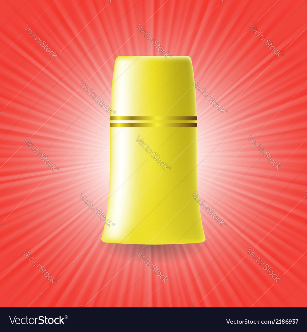 Yellow tube vector | Price: 1 Credit (USD $1)