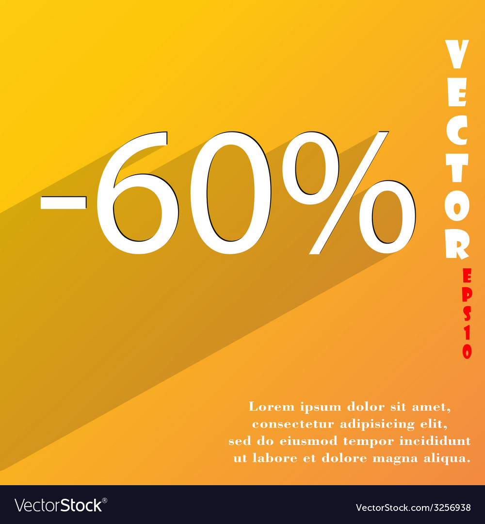 60 percent discount icon symbol flat modern web vector | Price: 1 Credit (USD $1)