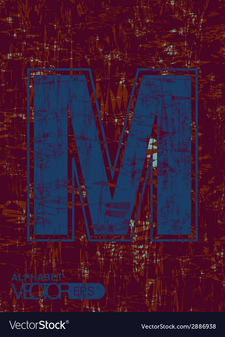 Alphabet m vector | Price: 1 Credit (USD $1)