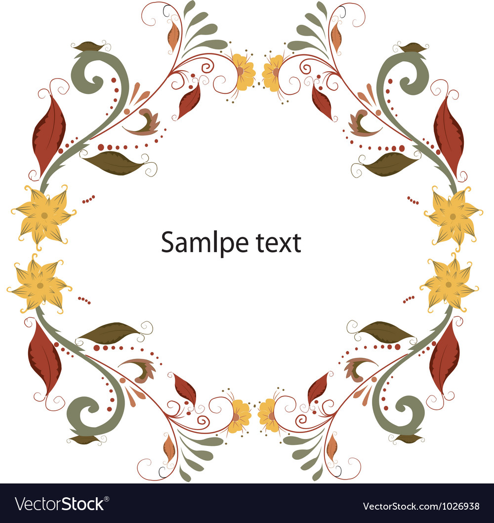 Autumn foliage border vector | Price: 1 Credit (USD $1)