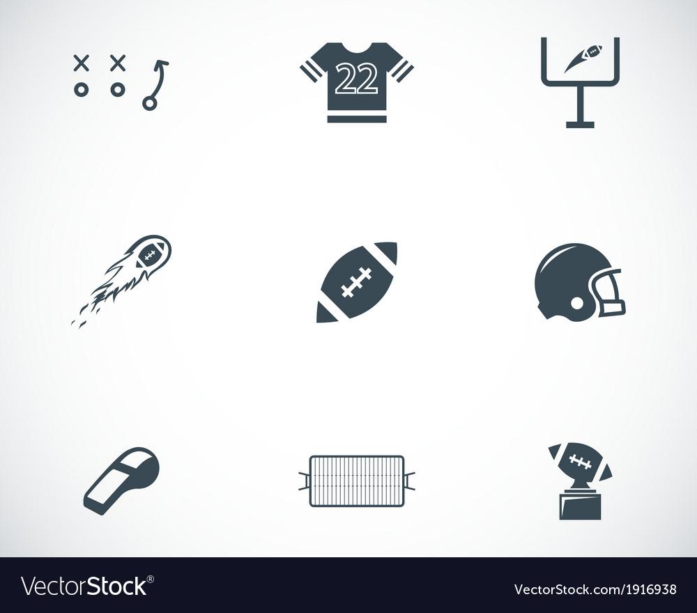 Black football icons set vector | Price: 1 Credit (USD $1)