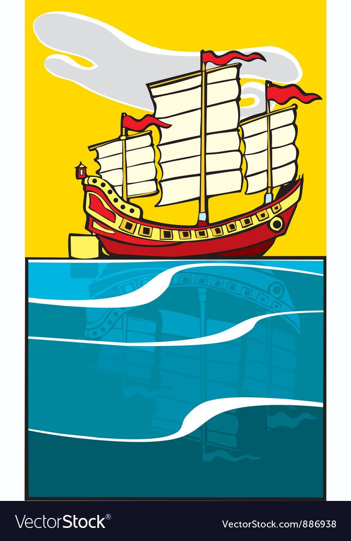Chinese junk vector | Price: 1 Credit (USD $1)