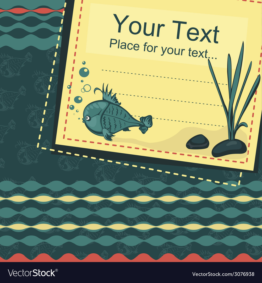 Fish background vector | Price: 1 Credit (USD $1)