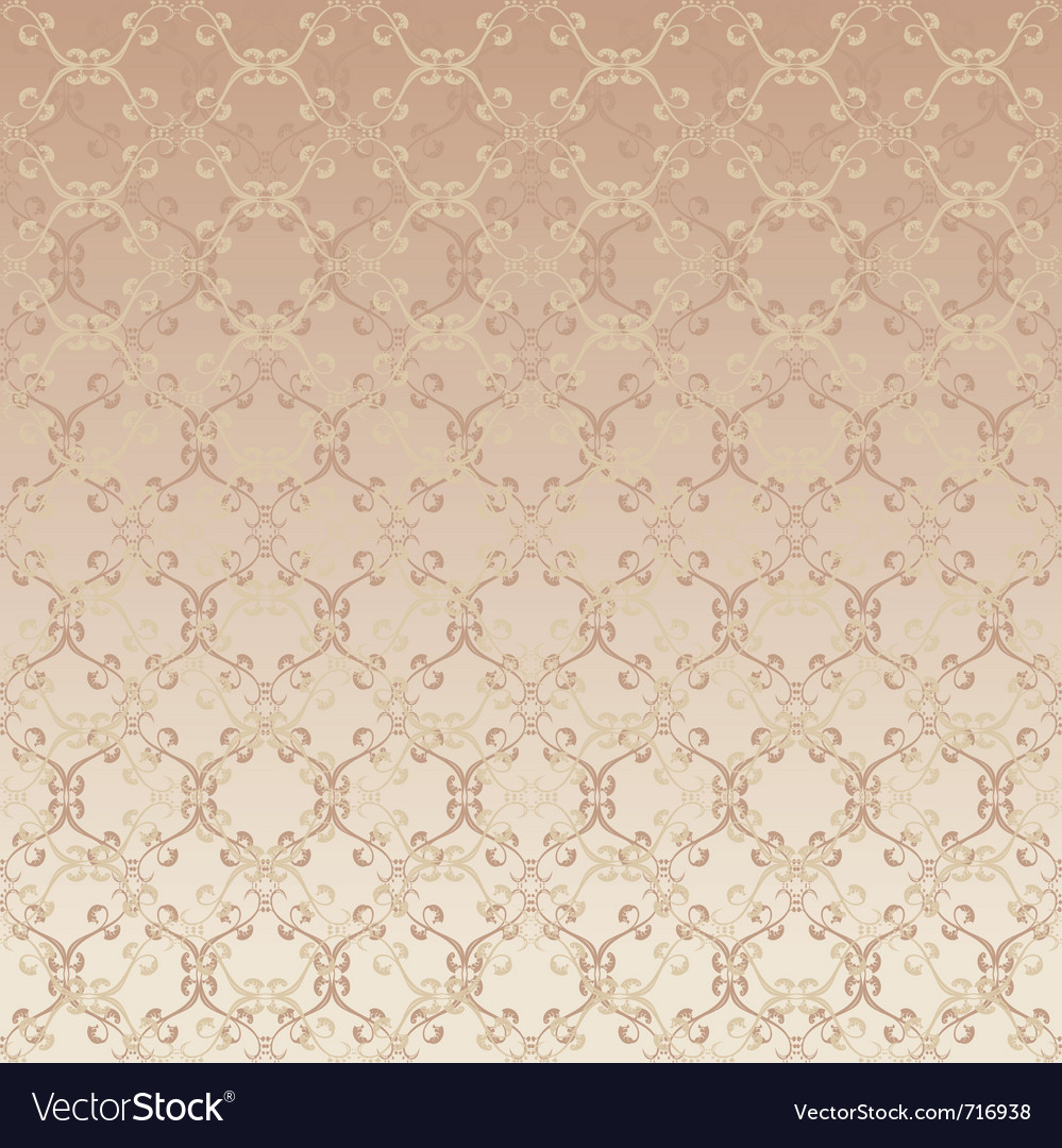 Floral design beige seamless vector | Price: 1 Credit (USD $1)