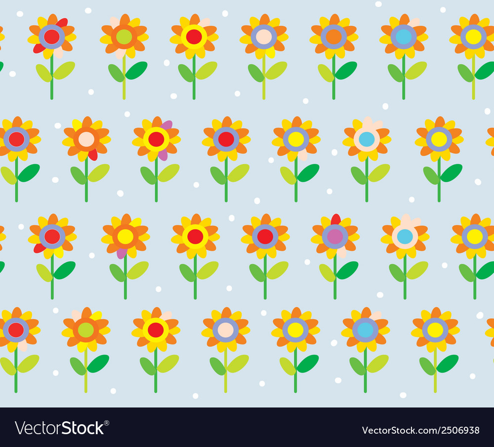 Flower seamless pattern simple and cute vector | Price: 1 Credit (USD $1)