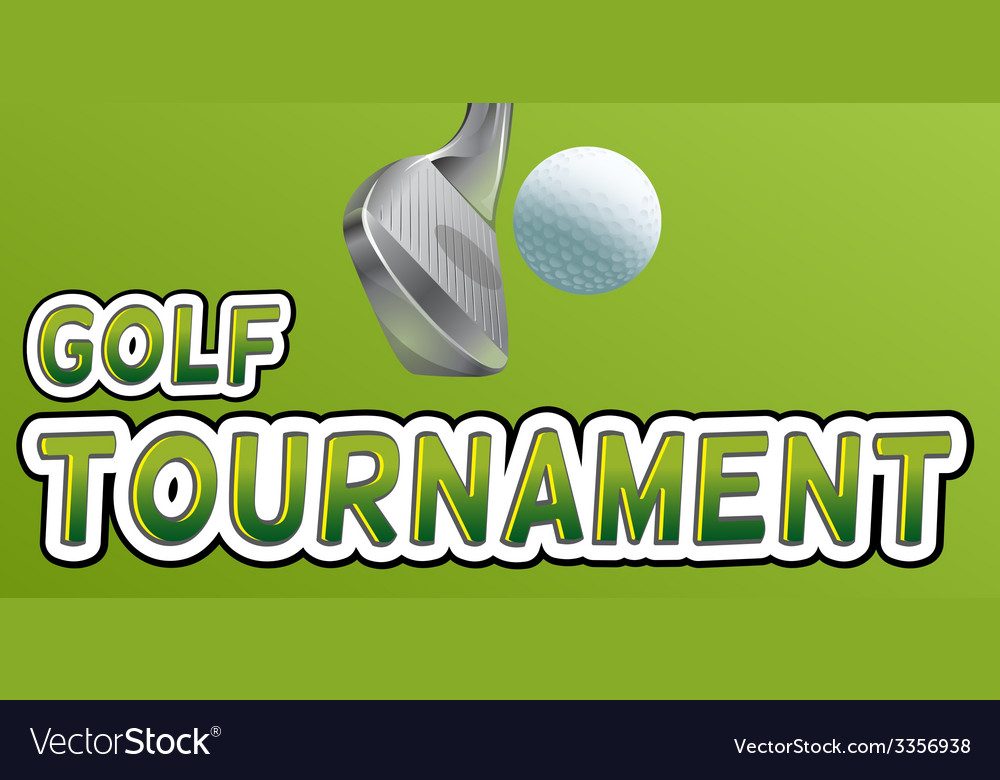 Golf tournament vector | Price: 1 Credit (USD $1)