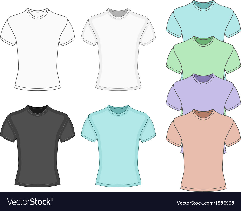 Mens short sleeve t-shirt vector | Price: 1 Credit (USD $1)