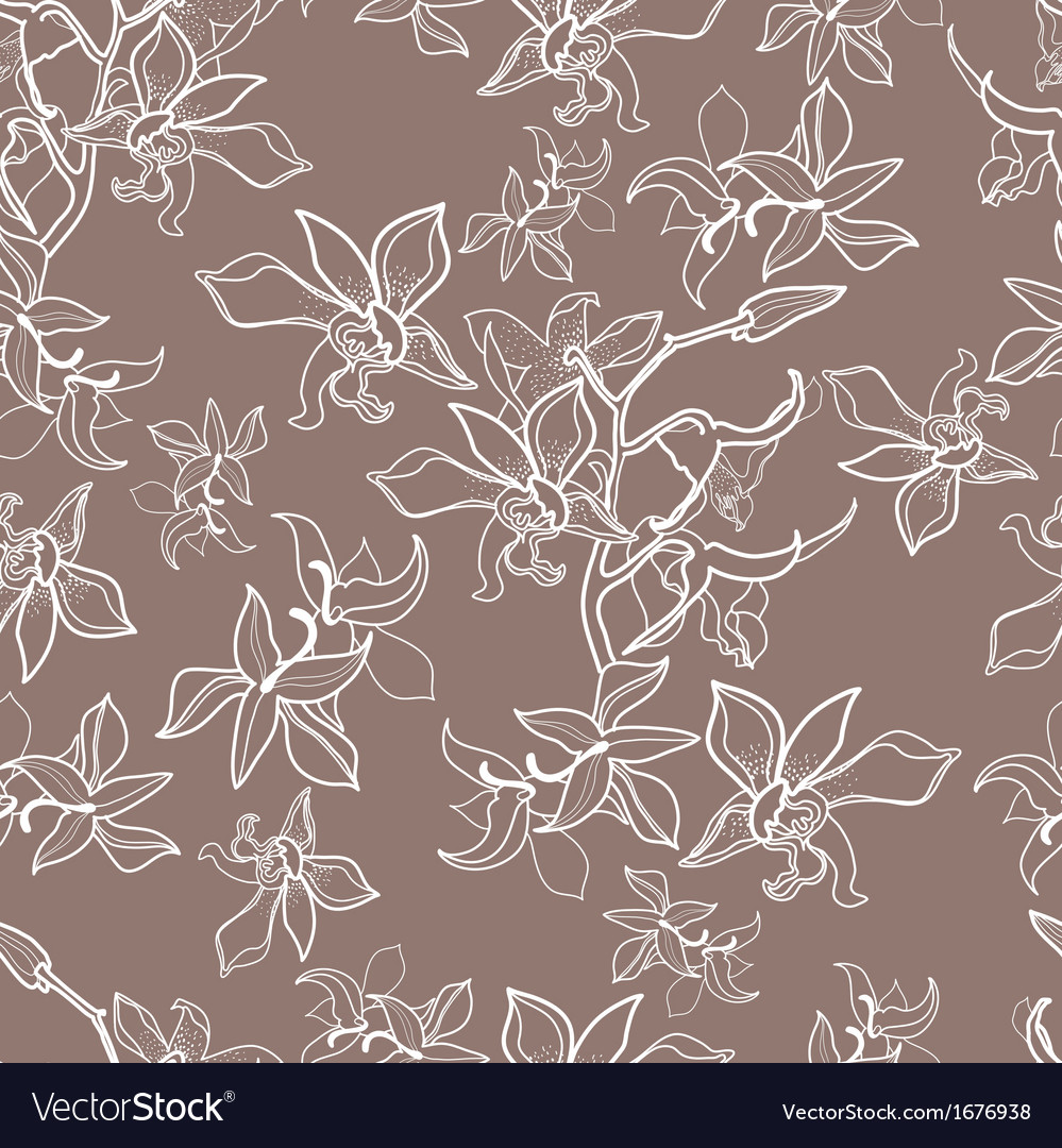 New flower seamless vector | Price: 1 Credit (USD $1)