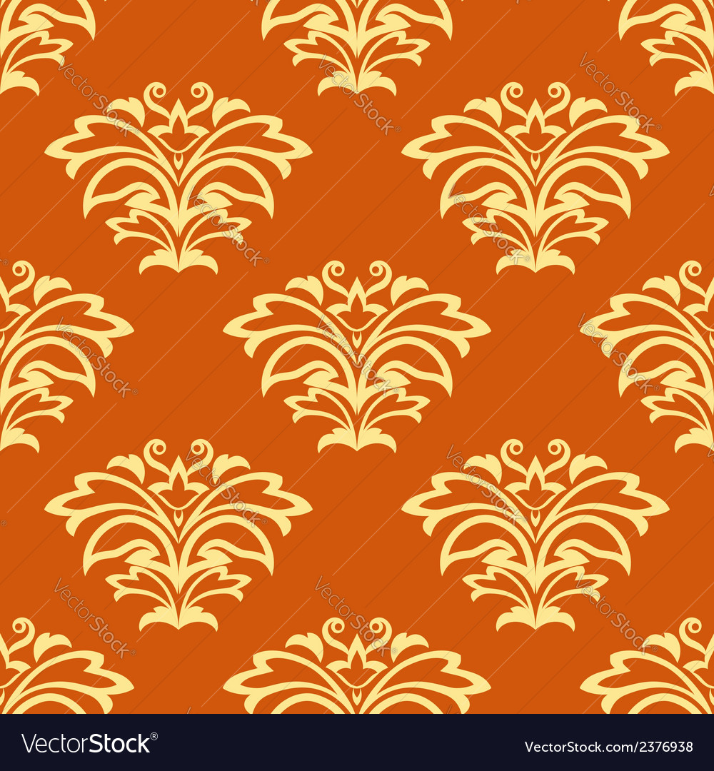 Orange and beige seamless pattern vector | Price: 1 Credit (USD $1)