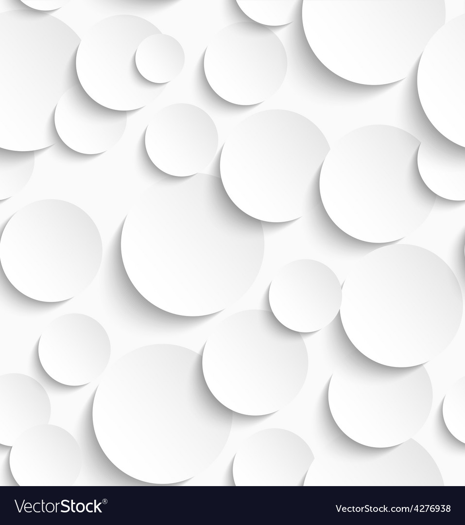 Seamless pattern of white circles with drop vector | Price: 1 Credit (USD $1)