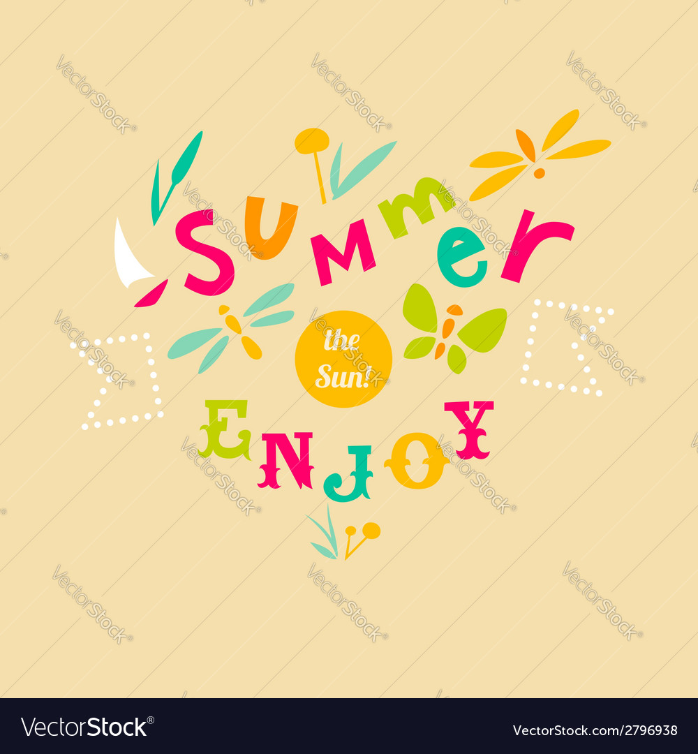 Summer typographic design vector   Price: 1 Credit (USD $1)