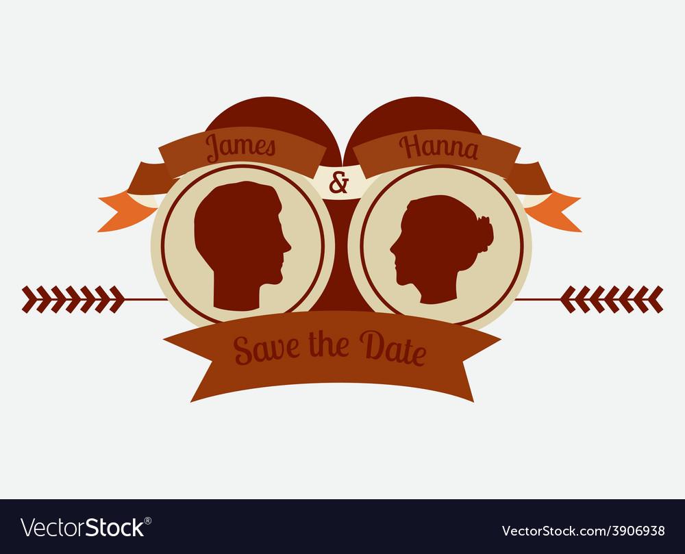Wedding design over white background vector | Price: 1 Credit (USD $1)