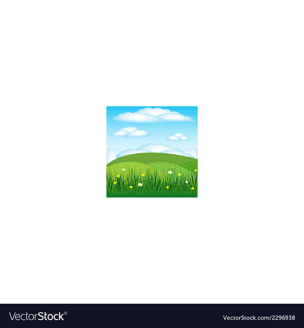 Year landscape with flower vector | Price: 1 Credit (USD $1)