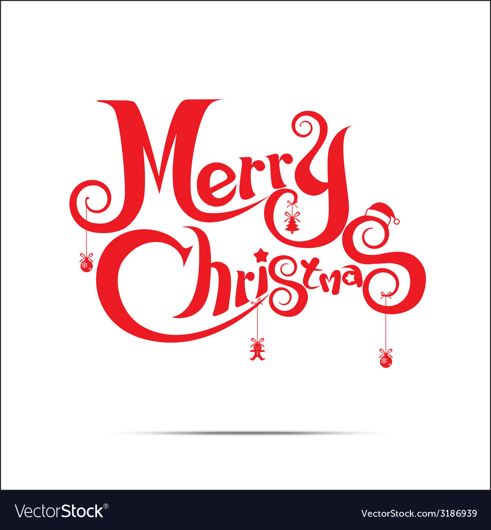 015 merry christmas text vector | Price: 1 Credit (USD $1)