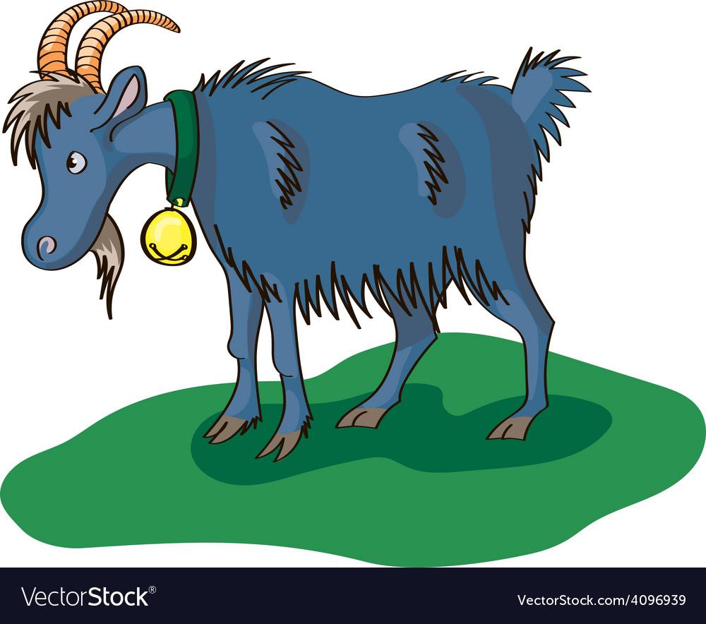 Blue goat vector | Price: 1 Credit (USD $1)