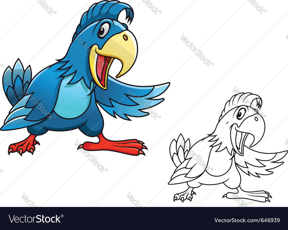 Cartoon parrot vector | Price: 3 Credit (USD $3)