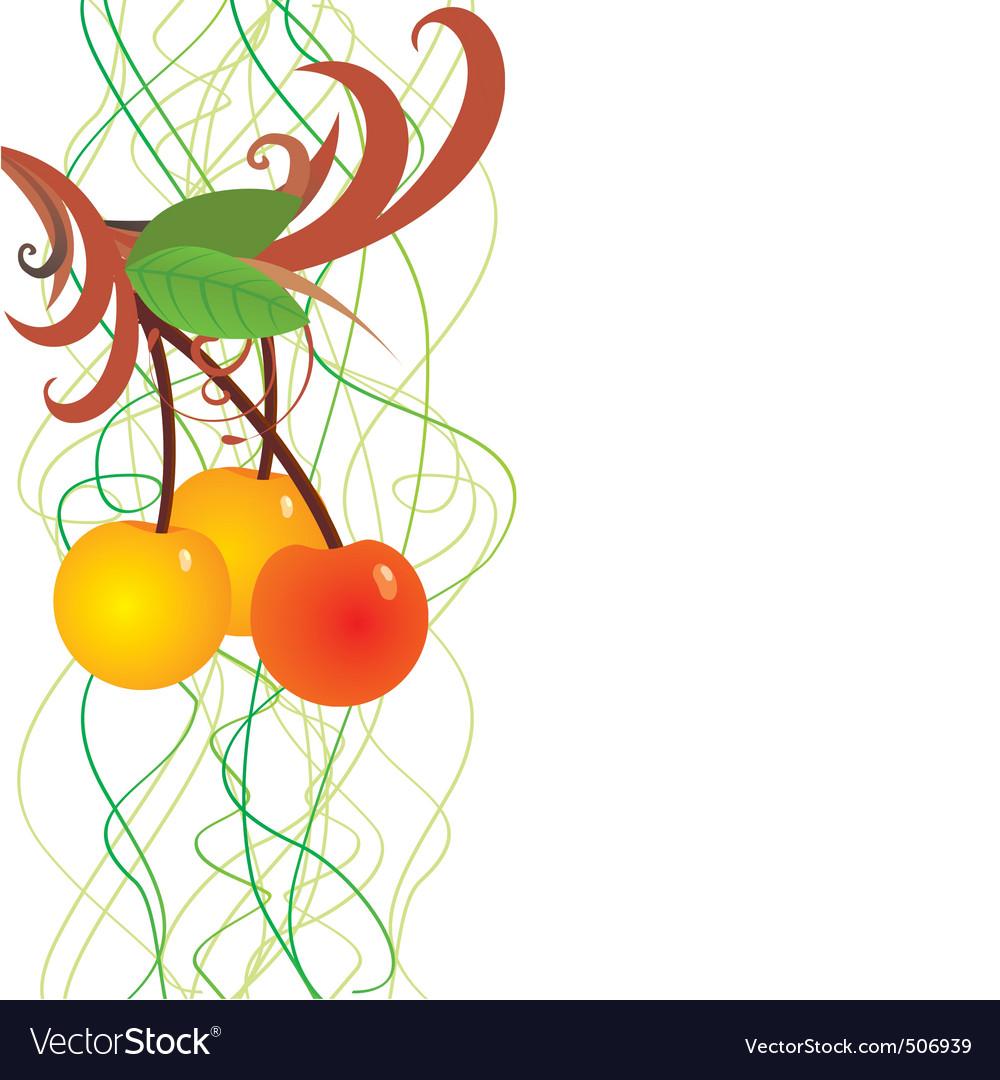 cherry berries vector | Price: 1 Credit (USD $1)