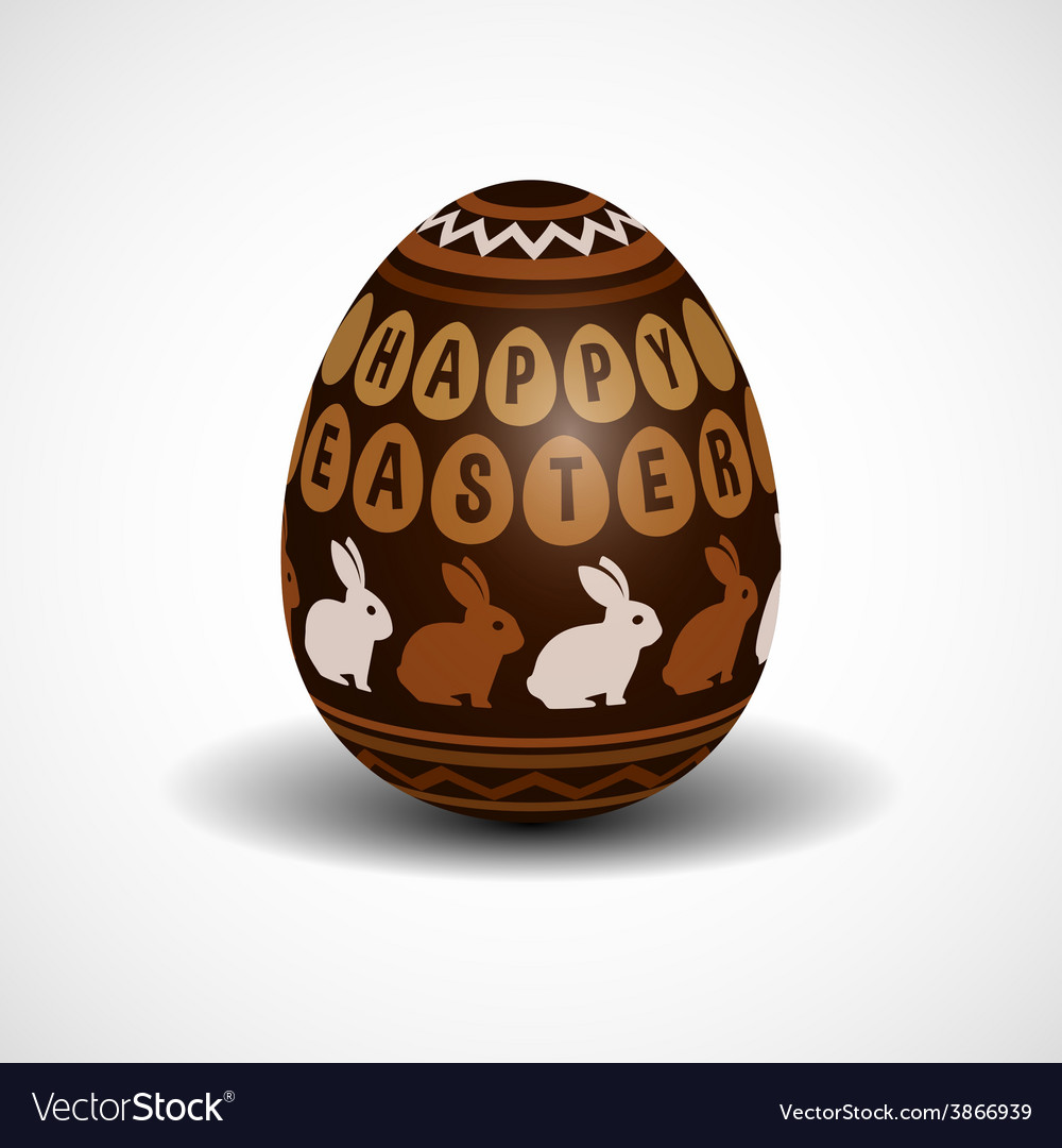 Chocolate easter egg vector | Price: 1 Credit (USD $1)