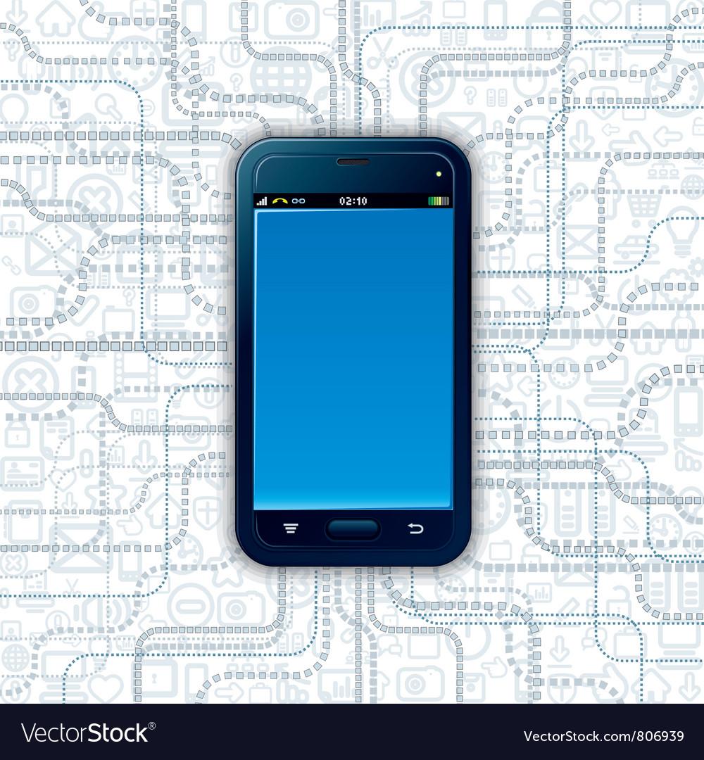 Communicator technology vector | Price: 3 Credit (USD $3)