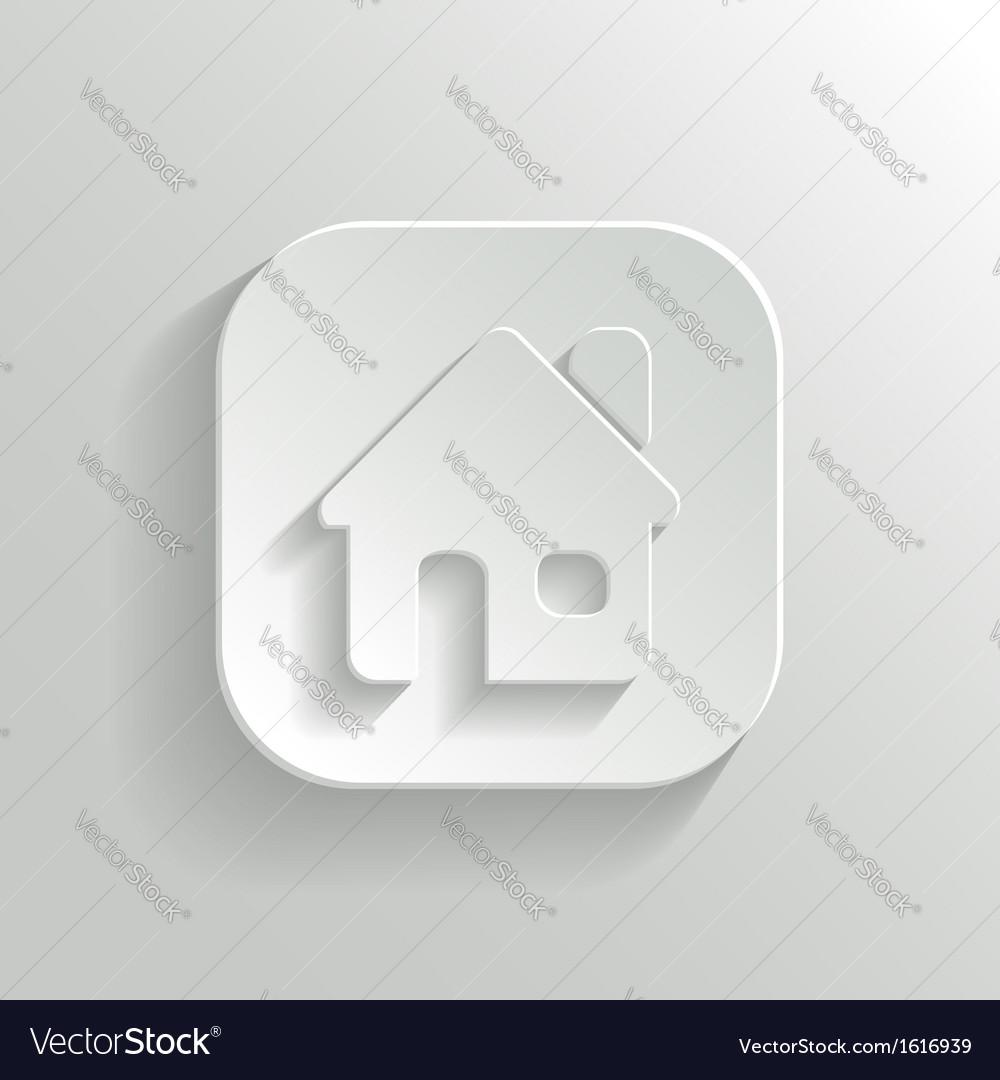 Home icon - white app button vector | Price: 1 Credit (USD $1)