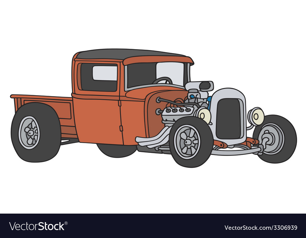 Hot rod vector | Price: 1 Credit (USD $1)