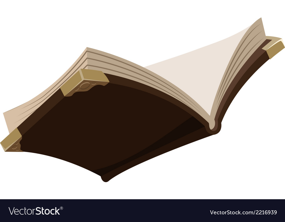 Open magic old book vector | Price: 1 Credit (USD $1)
