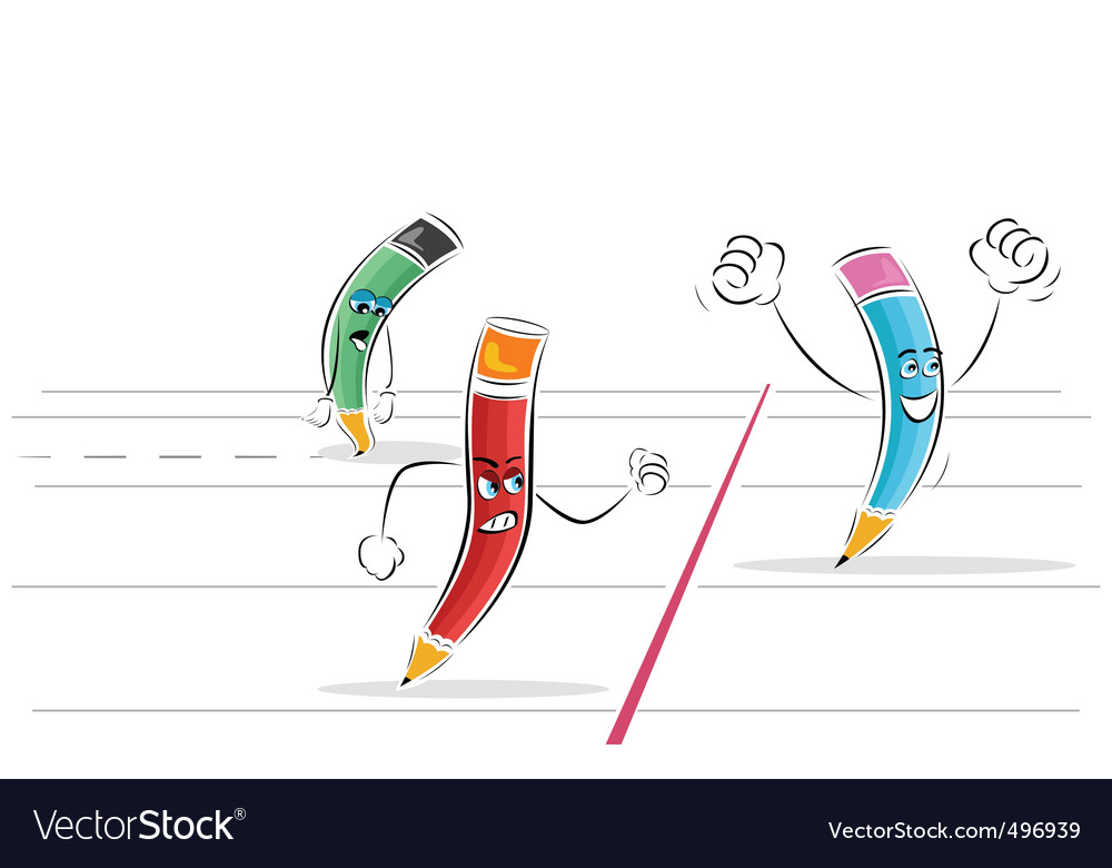 Pencil race vector | Price: 1 Credit (USD $1)